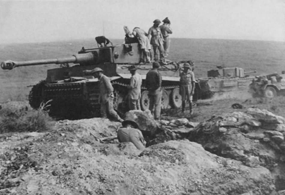 Captured Tiger I number 131 of schwere Panzer-Abteilung 504 – Afrika Korps Tunisia 1943