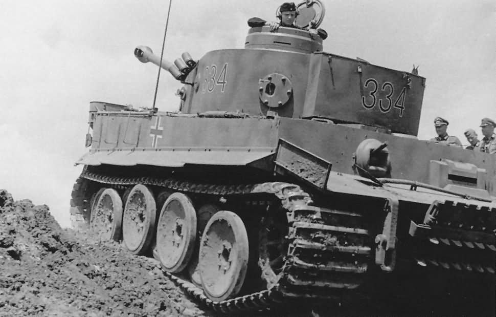Panzerkampfwagen VI Tiger of Schwere Panzer-Abteilung 503, tank number 334, in field trials