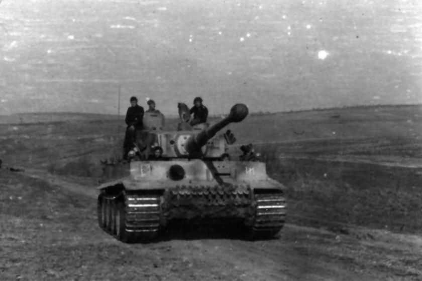 Tiger number 831 of the SS Division Das Reich