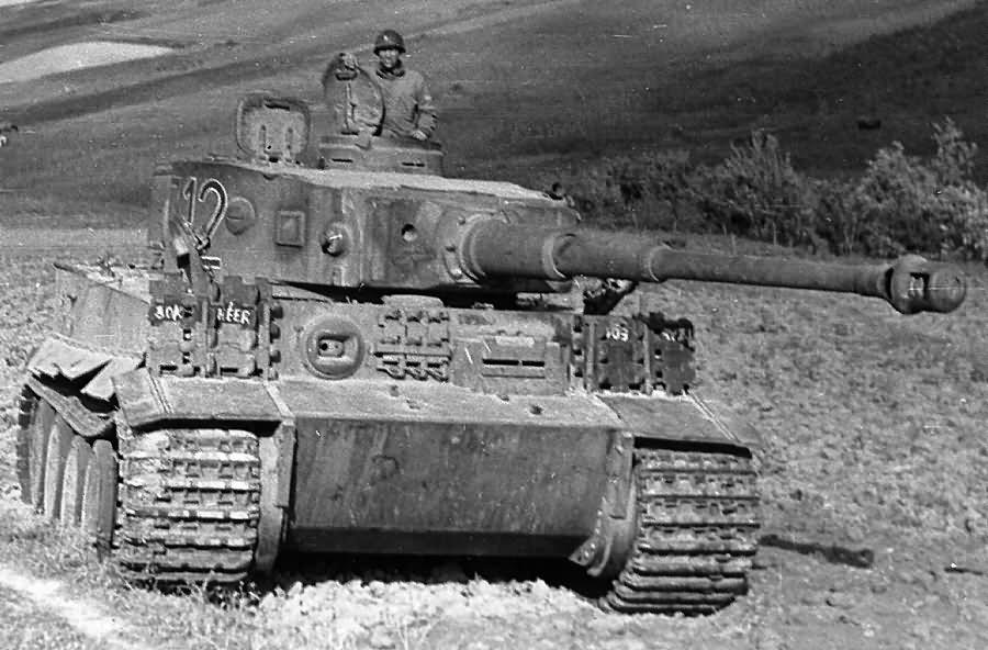 Captured Tiger I number 712 of Schwere Abteilung 501 Afrika Korps Tunisia