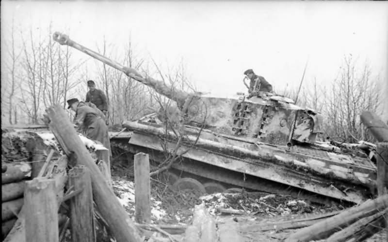 Tiger 223 of Schwere Panzer-Abteilung 505 winter Russia