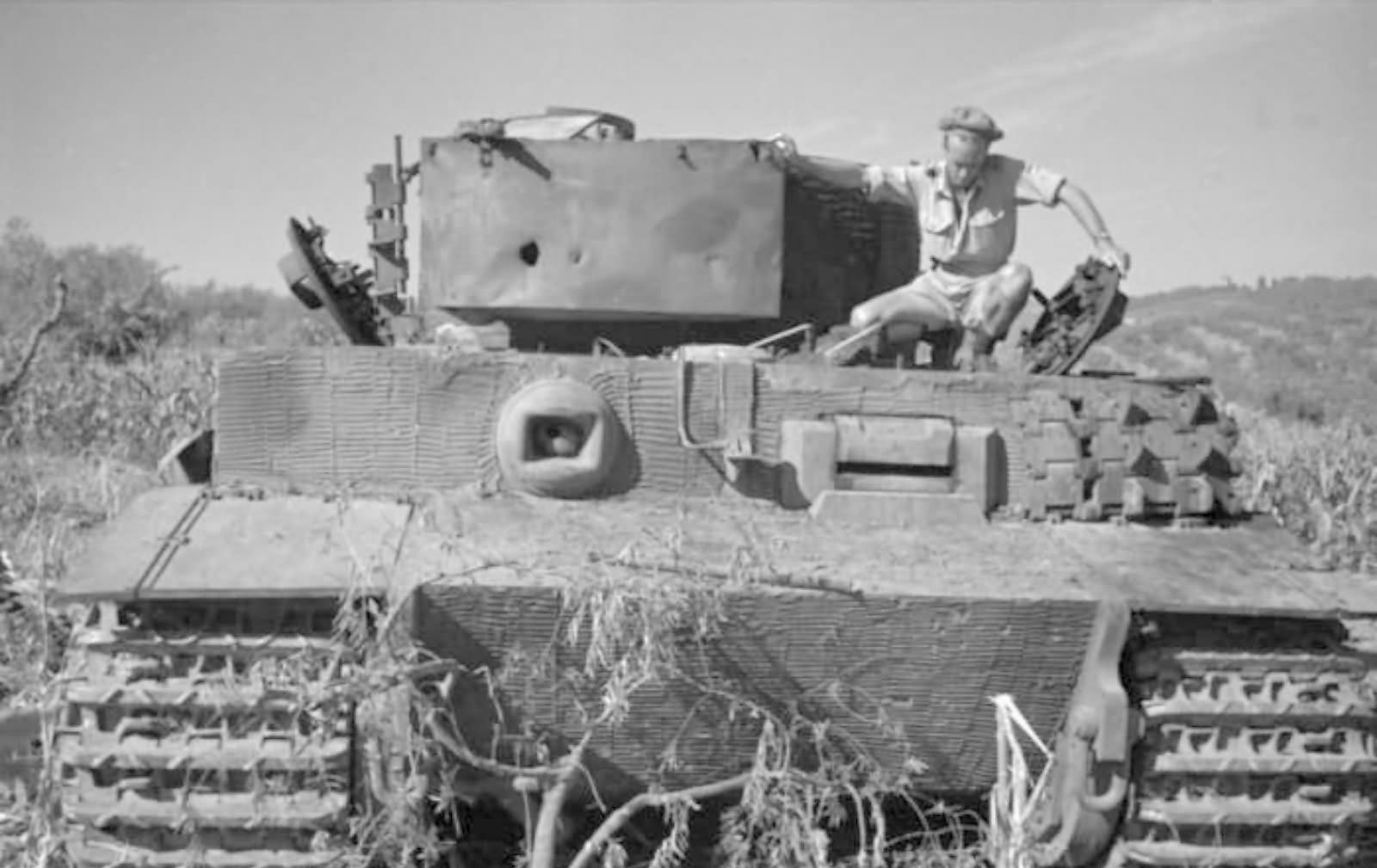 Tiger I with zimmerit of schwere Panzer-Abteilung 508, Villa Bonnaza Italy front view