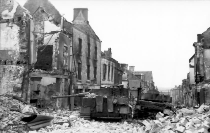 Villers Bocage destroyed Panzer IV (6/Panzer-Lehr-Regiment 130) and Panzer VI Tiger #112 of the 1/schwere SS-Panzerabteilung 101