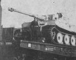 Tiger Ausf. H1 of 8./SS-Panzerregiment 2 Das Reich, tank number 800 rail transport 1943