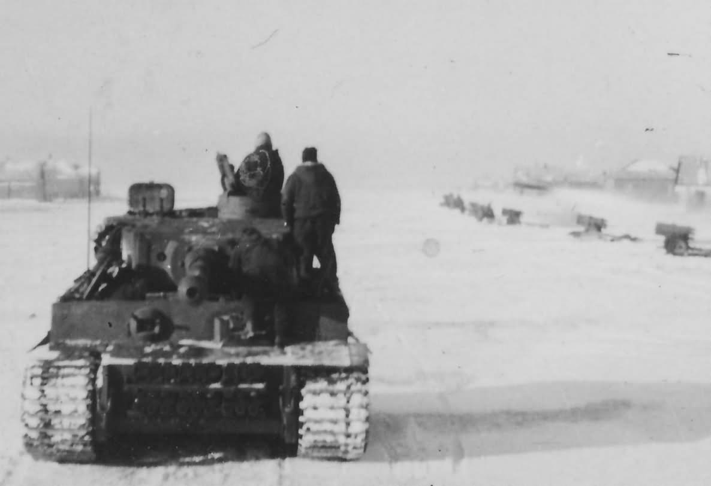 German Tiger tank of the 2/Schwere Panzer Abteilung 502. Eastern Front winter
