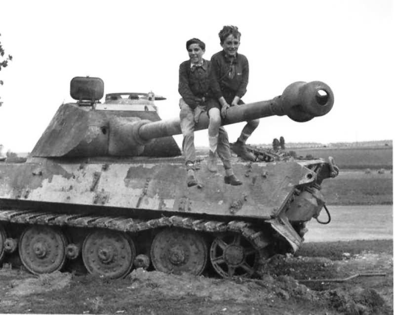 Abandoned King Tiger Tank With Porsche Turret Of The Schwere Panzer Abteilung 503 Normandy