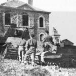 German Tiger 2 tank and Bren Carrier La Gleize Belgium