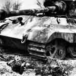 Destroyed Tiger II, Eastern Front 1945