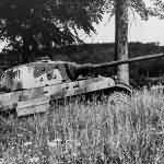 King Tiger tank of the Schwere SS Panzer-Abteilung 501. Tank number 008.