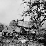 German Tiger 2 tank of the Schwere SS Panzer-Abteilung 501. Road to La Gleize.