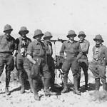 Afrika korps soldiers in desert
