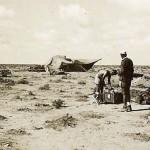 German afrika korps troops by tent in desert