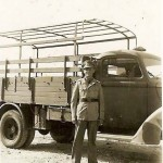 Luftwaffe afrika korps officer posed by 4×4 lkw truck