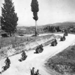 "1st SS Panzer Division ""Leibstandarte SS Adolf Hitler"" motorcycle unit moves south thru Greece 1942"