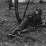 Unterscharfuhrer with MP40 Machine Pistol Eastern Front 1942