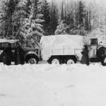 Einheitsdiesel truck in winter