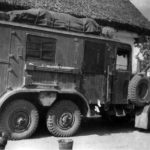 Einheits-Lkw as radio mast motor-vehicle Kfz 68