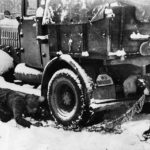 German Soldiers put snow chains