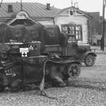 Henschel 33 wehrmacht truck and T 26 tank Russia
