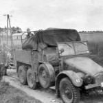 Luftwaffe Krupp Protze Kfz70 with trailer