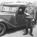 Mercedes Benz 170VK France 1942 soldier of Luftwaffe