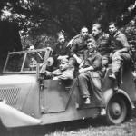 Soldiers of Luftwaffe with Kubelwagen Mercedes Benz 170 VK