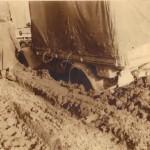 German trucks in mud