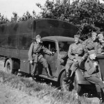Wehrmacht truck Opel Blitz and soldiers