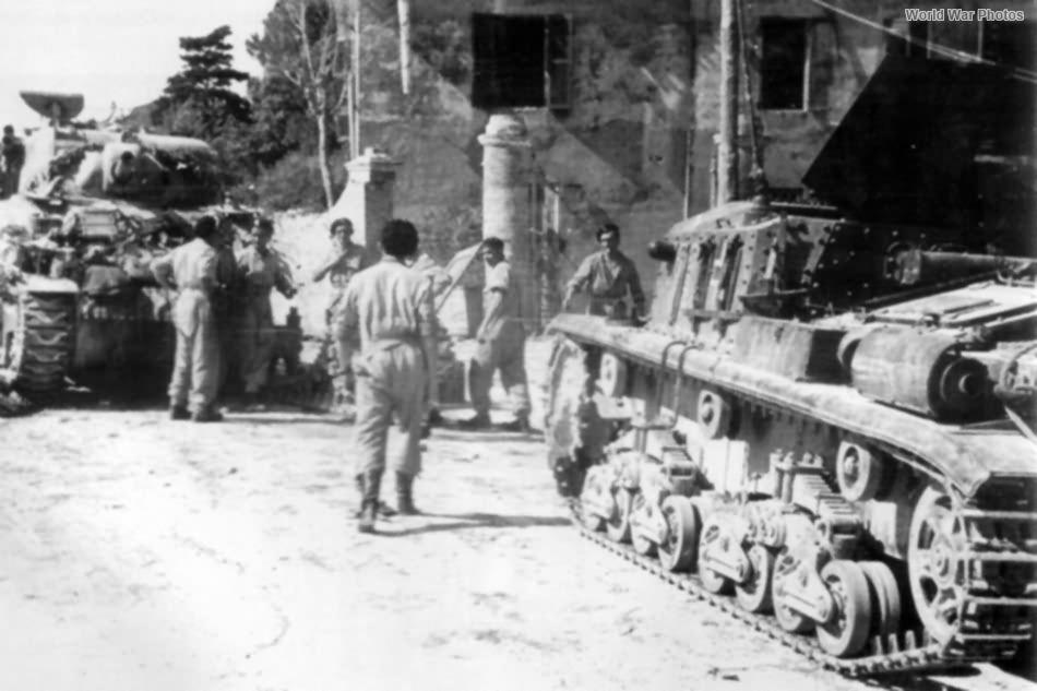 StuG 42 and M4 Sherman