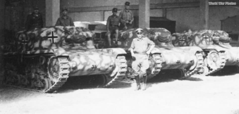 StuGs M42 of Prinz Eugen Division