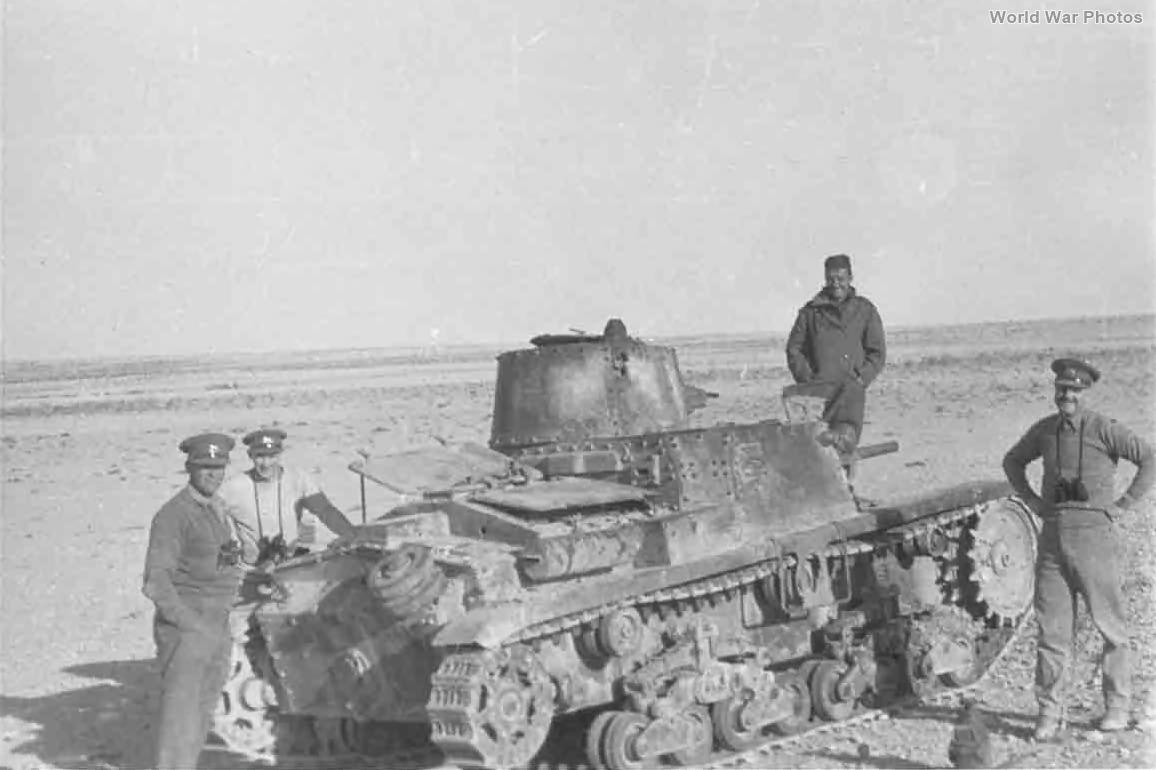 Captured M11/39 Libya 1940