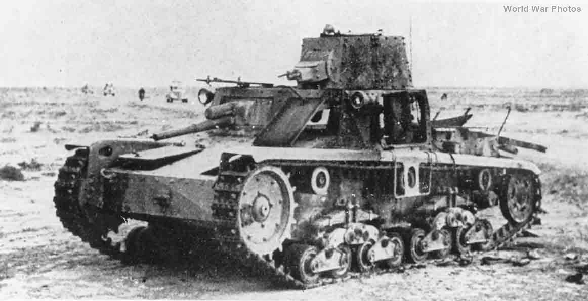 Destroyed Carro Armato M11/39