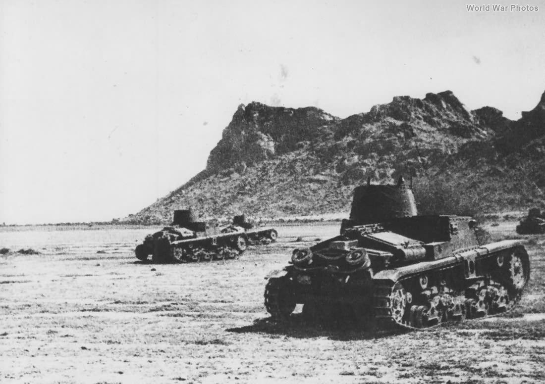 M11/39 tanks Libya 1940