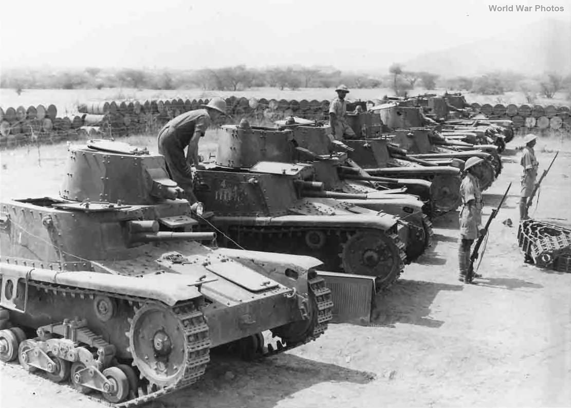 Captured M11/39 of 321 Company Agordat, Eritrea 1941
