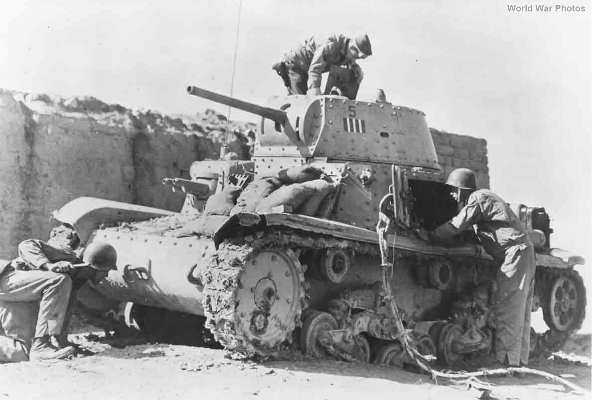 Abandoned M14/41 of 131st Armoured Division Centauro 1943