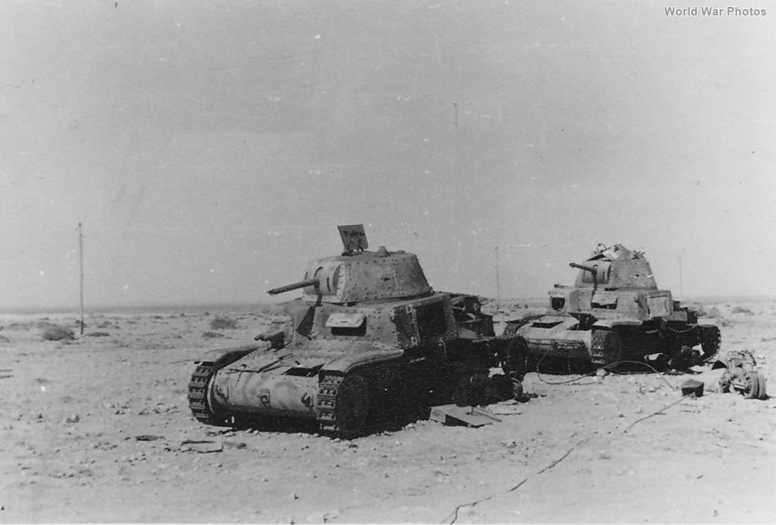 Abandoned M13/40 North Africa