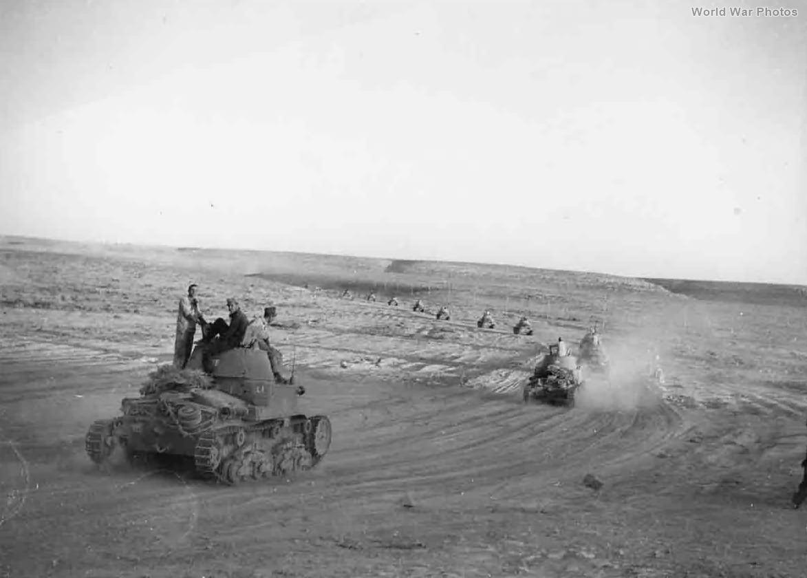 M13/40 tanks of the 51 Battaglione carri
