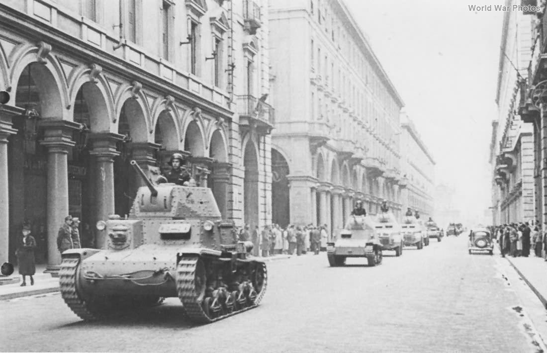 M13/40 of the G.N.R. RSI Milan 1944