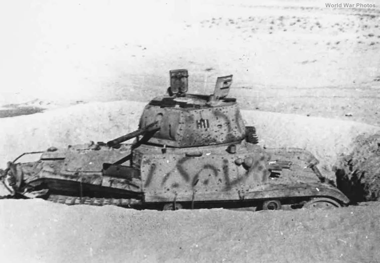 Carro Armato M14/41 dug out