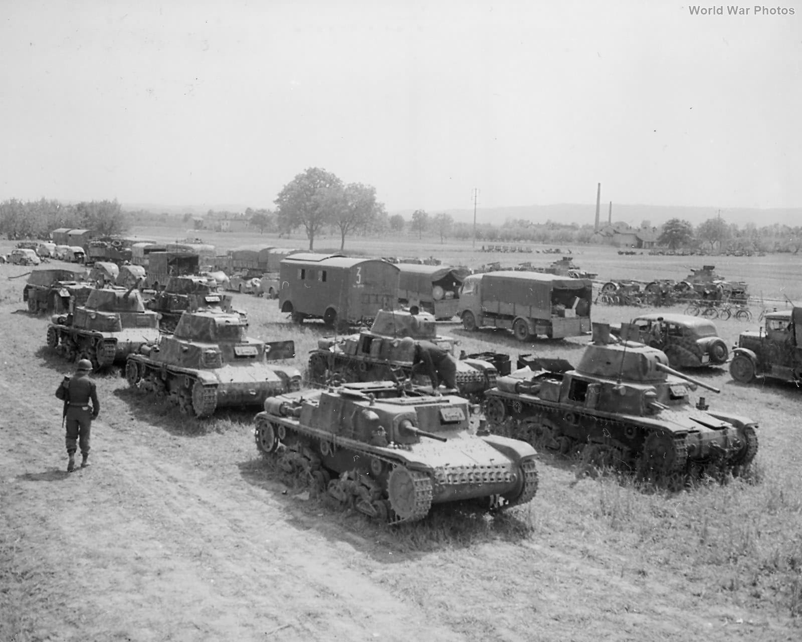 34th ID captures Italian tanks, staff cars and trucks Ivrea