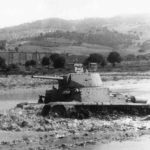 M15/42 tank fording the river