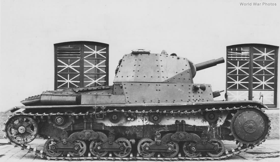 1st prototype of P 40 side view