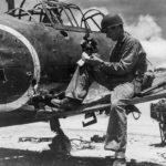1st Marine Div Combat Photographer and A6M5 Peleliu