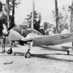 A6M2 Zero in surrender markings Bougainville 1945