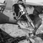A6M3 Zero tail wheel close up Buna 1943