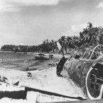 Japanese Mitsubishi A6M Zero wreck at Guadalcanal Solomon Islands 1943