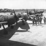US troops with intact Zeros at Aslito Airfield Saipan
