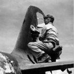 tail of a Mitsubishi A6M Zeke on Saipan 1944