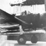 Nakajima B5N1 Kate takes off from carrier Akagi