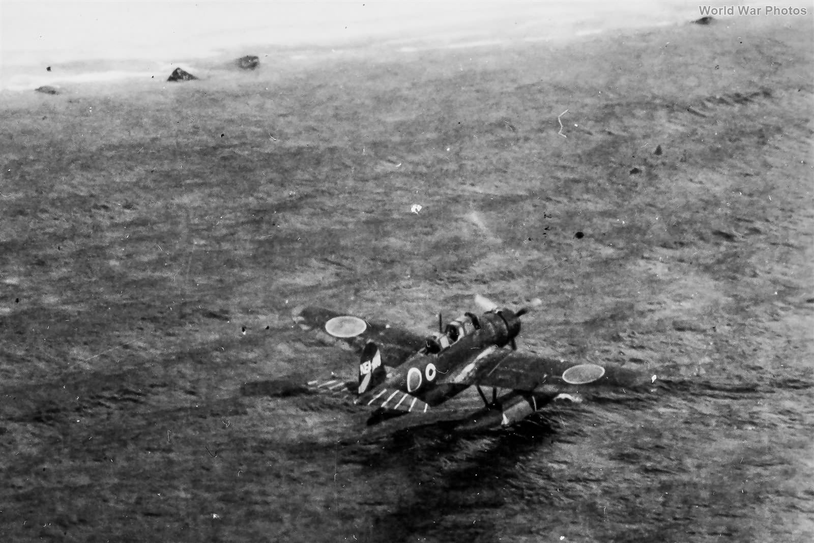 E13A Jake uner attack Formosa 1944